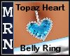 Topaz Heart Belly Ring