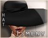 [Is] Black Fashion Hat