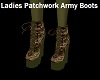 Patchwork Army Boots