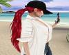 Hat n Long Red Hair {F}