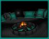 Cyan PVC- Fire Pit