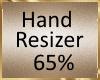 B91 65%  Hand Resizer