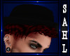 LS~HAT/HAIR DARK RED