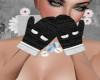 Noelle Black Mittens