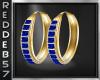 Gold Royal Blue Hoops