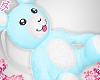 d. bear bag blue