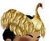 hair bird gold costom