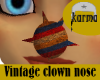 vintage clown nose
