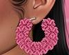Fur Hoops Pink