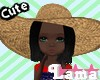CowGirl Hat, Black Hair
