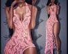 N: Pink Lace Dress