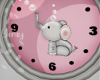 Baby Girl Elephant Clock