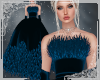 ! Feather Gown Blue