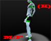 (k)black Green Spikes