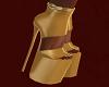 FG~ Queen B Gold Heels