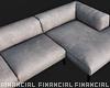 Off White L Sofa