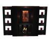 Rust Black Fireplace
