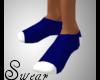 men blue/white socks