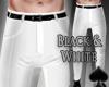 Cat~ Black & White Pants