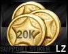 20K Support Stiker