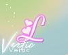 V ! Letter L Sticker
