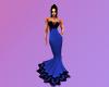 Blue & Blace Lace Gown