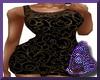 Black Print Tight Dress