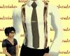 Beige Shirt & Suspenders