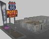 Motel in the fog