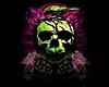 Framed Neon Skull Pic