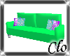 Candy swirl couch Green