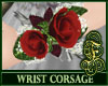 Wrist Corsage Red