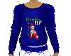 Flat Blue Naughty Elf