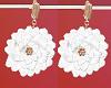 FG~ Flora Earrings White