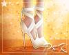 ✩ S White Ribbon Heels
