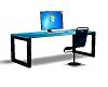 Designer Blue Desk