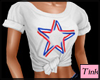 t-shirt red white blue