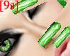 [9s] Lime Zebra Nails
