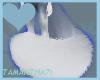 Blue fuzz tail