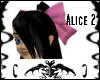 Midnight/Pink bow