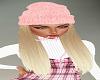 Pink Hat Blond Hair