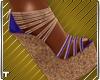 Blue Gold Sandals