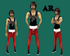 Mens Red Jeans