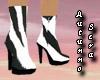 Zebra Print Ankle Boots