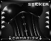 [D] Corset Sticker Black
