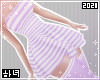 Dress | Striped purple