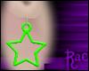 R: Green Star Earrings