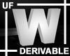 UF Derivable Letter W