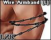 Wire Armband Black (L)