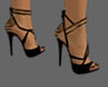 Gold black shoes